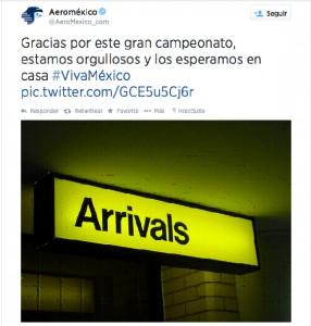 Tweet correcto de KLM